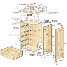 shaker chest of drawers plans