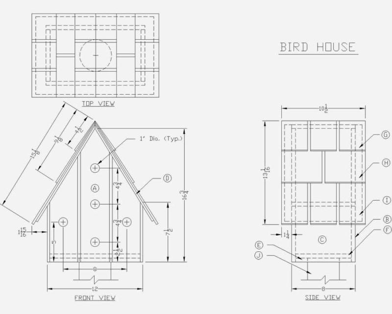 DIY Make Your Own Bird House Plans PDF Download modern
